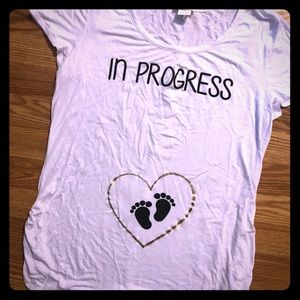 In progress XL maternity fitted t-shirt